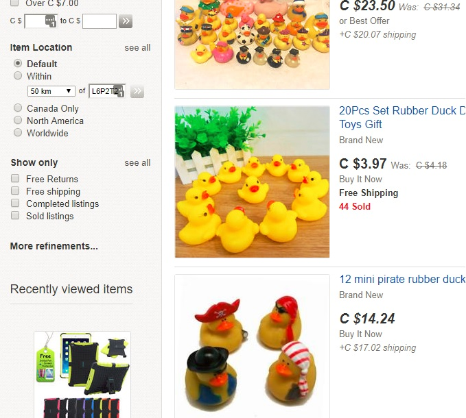 buying ducks